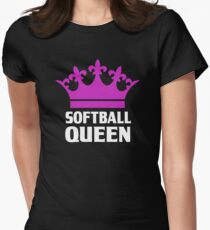Funny Softball Queen Womens Fitted T-Shirt