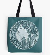 Blue Mucha Woman Tote Bag