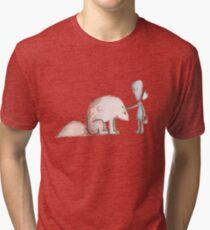 Ego Makes A Friend Tri-blend T-Shirt