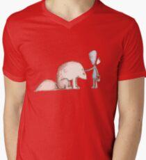 Ego Makes A Friend Mens V-Neck T-Shirt