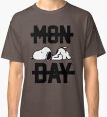 Snoopy Lazy Monday Classic T-Shirt