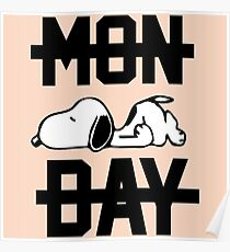 Snoopy Lazy Monday Poster