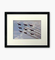 Red Arrows Aviation display team Framed Print