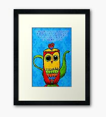What my Coffee says to me - August 1st, 2012 Framed Print