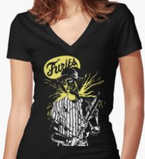 The warriors. Furies baseball player! Women's Fitted V-Neck T-Shirt