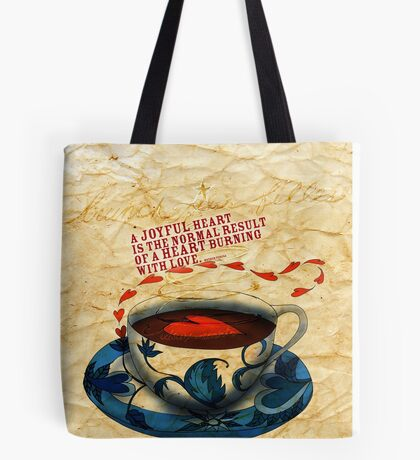 What my Coffee says to me -  December 15, 2012 Tote Bag