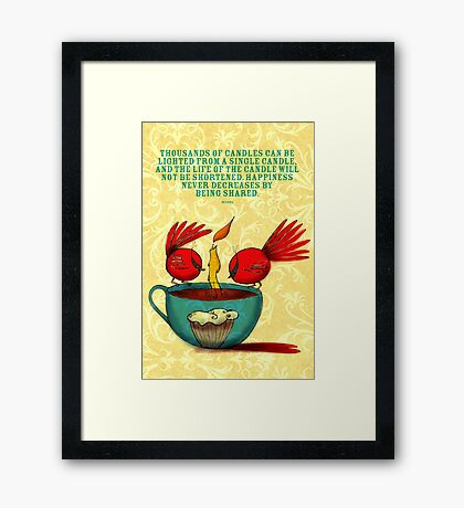What my Coffee says to me -  December 29, 2012 Framed Print
