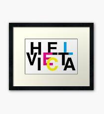 Helvetica & CMYK Framed Print