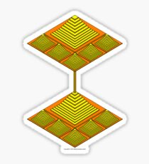 Ziggurat Glyph 10 Sticker