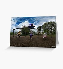 3  Kids on a Swing Greeting Card