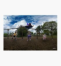 3  Kids on a Swing Photographic Print