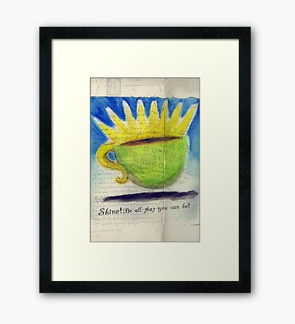 What my Coffee says to me - January 15, 2012 Framed Print