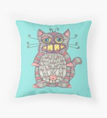 Cat Ladies Throw Pillow