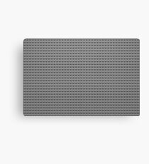 Building Block Brick Texture - Gray Canvas Print
