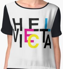 Helvetica & CMYK Chiffon Top