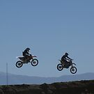 Motocross - Two over the table top  Racetown, CA, USA by leih2008