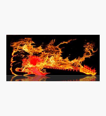 guitar fire Photographic Print