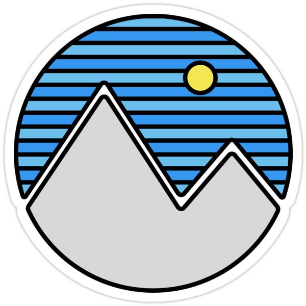 Quot Striped Mountain Range Quot Stickers By Aliciamo Redbubble