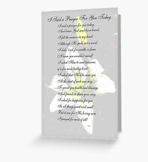 I Said a Prayer For You Today Greeting Card