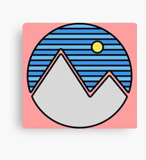 Striped Mountain Range Canvas Print