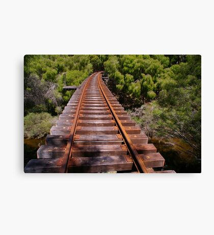 Tree top railway Canvas Print