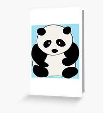 Chubby Panda Greeting Card