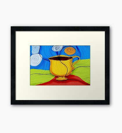 What my Coffee says to me -  September 30, 2012 Framed Print
