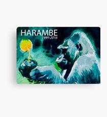 Harambe Gorilla Canvas Print