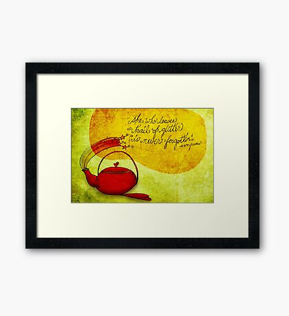 What my #Tea says to me January 23, 2013 Framed Print