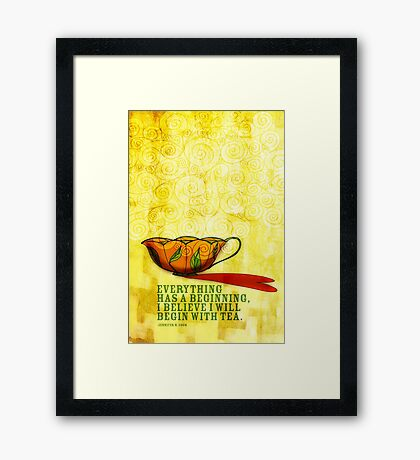 What my #Tea says to me January 1, 2013 Framed Print