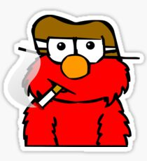 Elmo Smoking Sticker
