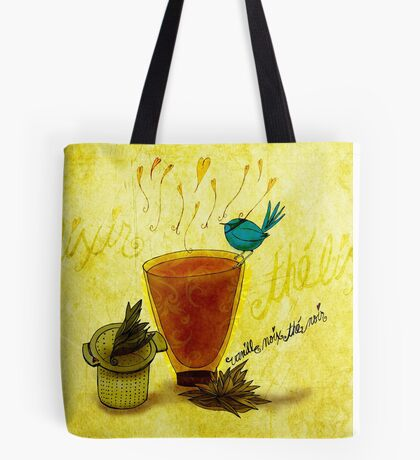 What my #Tea says to me June 22 Tote Bag