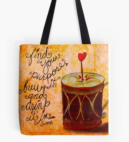 What my #Coffee says to me June 23, 2013 Tote Bag