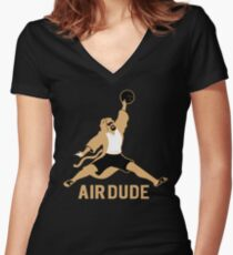 Air Dude Big Lebowski Women's Fitted V-Neck T-Shirt
