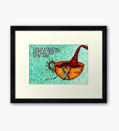 CHRISTMAS - What my #Coffee says to me  Framed Print