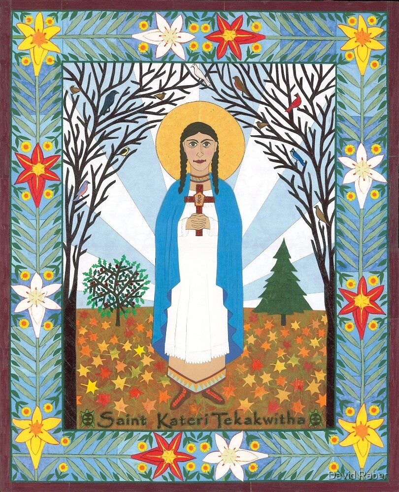 St. Kateri Tekakwitha Icon by David Raber
