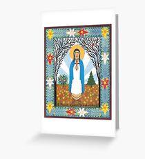 St. Kateri Tekakwitha Icon Greeting Card
