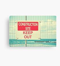 Construction Site - Keep Out Canvas Print