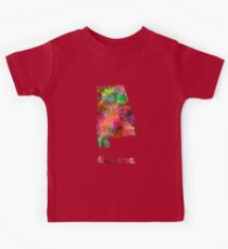 Alabama US state in watercolor Kids Tee