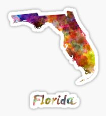 Florida US state in watercolor Sticker