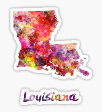 Louisiana US state in watercolor Sticker