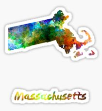 Massachusetts US state in watercolor Sticker