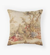 Aubusson French tapestry 18th century Throw Pillow