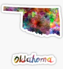 Oklahoma US state in watercolor Sticker