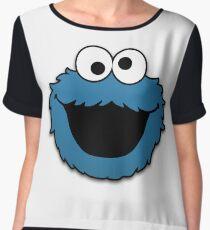 Cookie Monster Muppet Chiffon Top
