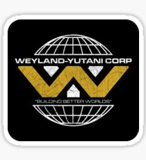 The Weyland-Yutani Corporation Globe Sticker
