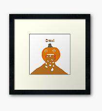 pumpkin barf Framed Print