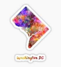 Washington DC US state in watercolor Sticker