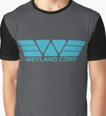 Weyland Corp logo - Alien - Blue Graphic T-Shirt
