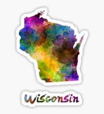 Wisconsin US state in watercolor Sticker